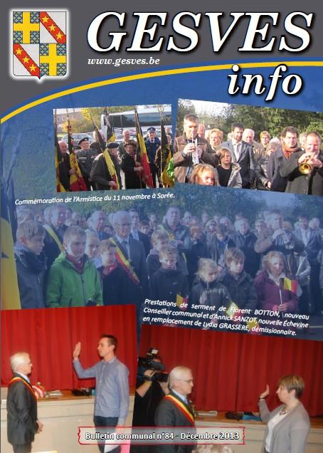 Gesves Info n°84 - Décembre 2013
