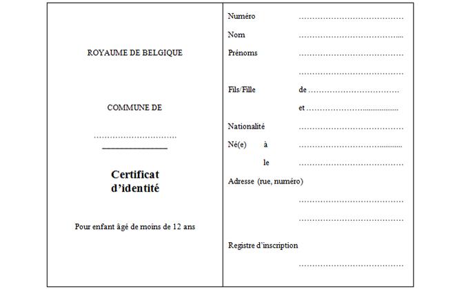 le certificat d 39 identit pour enfant tranger de moins de 12 ans la commune de gesves. Black Bedroom Furniture Sets. Home Design Ideas